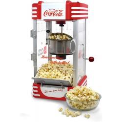 Salco Coca-Cola Popcornmaschine antihaftbeschichteter Behälter auch für süßes oder salziges Popcorn geeignet